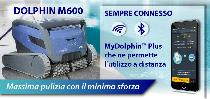 Robot Dolphin M600 massima pulizia
