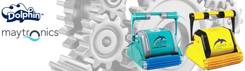 componenti e ricambi per robot pulitore Dolphin Flipper 1.0 e 2.0