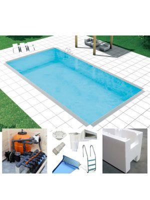 Easy kit Classic, kit piscina fai da te 5 x 12 x h 1.50, skimmer