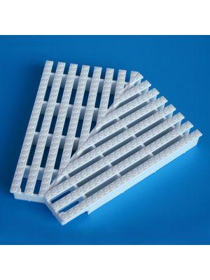 Elemento d'angolo a 135° modello EDP/135 per griglie rettilinee Patentverwag griglia angolare