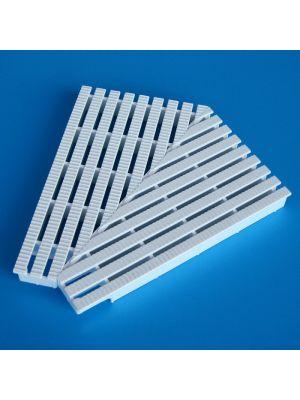Elemento d'angolo a 135° modello EDR/135 per griglie rettilinee Patentverwag griglia angolare