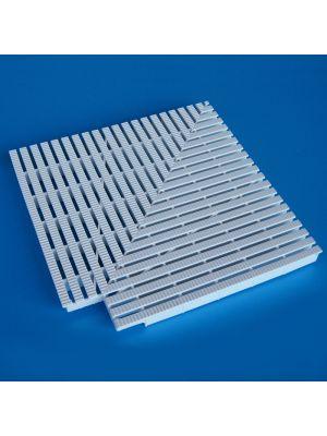 Elemento d'angolo a 90° modello EDR/90 per griglie rettilinee Patentverwag griglia angolare