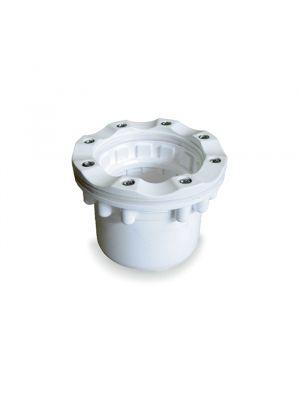 Bocchetta di aspirazione in PVC per piscina a sfioro in liner Astralpool flangia in PA