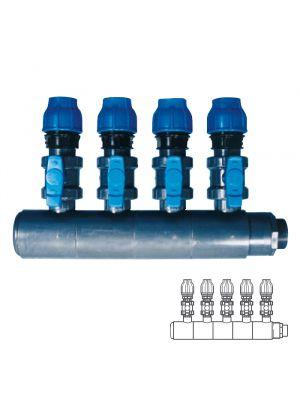 Collettore modulare in PVC - PN10 Ø 140 5XØ1 1/2