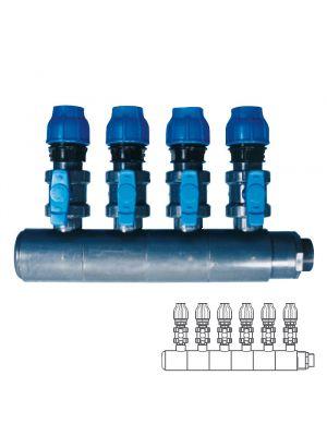Collettore modulare in PVC - PN10 Ø 140 6XØ1 1/2