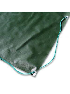 Copertura invernale 8 x 4 m per piscina 7 x 3 m - completa di borchie ed elastico - borchie ogni 90 cm