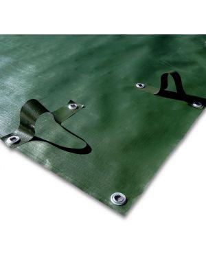 Copertura invernale 8 x 12 m per piscina 7 x 11 m - predisposta per tubolari - occhiellato con fasce