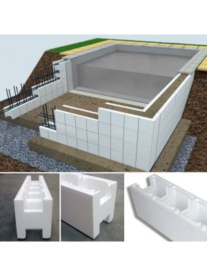 Kit casseri Easyblok per costruzione piscina skimmer 10 x 5 x h 1,5 m