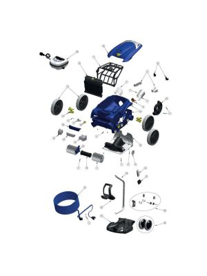 Zodiac Vortex 4 4WD spare parts and accessories