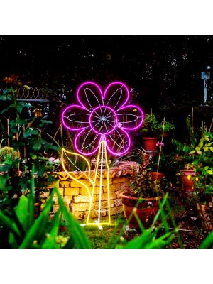 fiore luminoso per feste in piscina neon led