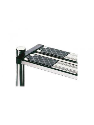 Gradino di sicurezza in acciaio inox con doppia superficie antisdrucciolo per scala piscina
