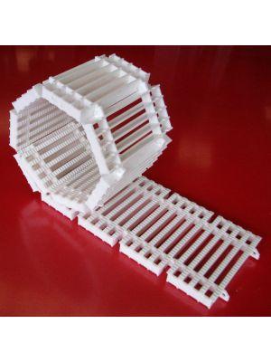 Griglia rettilinea arrotolabile modello AP/16 (prezzo al m) Patentverwag colore bianco
