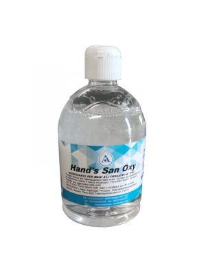5 lt | Kit 10 flaconi | Gel igienizzante mani SAFE HANDS OXY, grande formato 500 ml