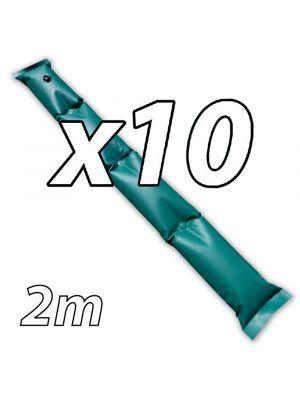 Kit di 10 tubolari salsicciotti ANTIVENTO da 2m per telo invernale piscina