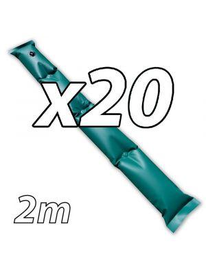 Kit di 20 tubolari salsicciotti ANTIVENTO da 2m per copertura invernale piscina