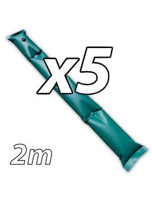 Kit di 5 tubolari salsicciotti ANTIVENTO da 2mt per telo invernale
