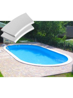 Kit bordi in pietra ricostruita per piscina interrabile 800 X 400 cm