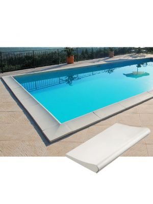 Kit bordi standard bianco liscio per piscina interrata 12 x 6 m
