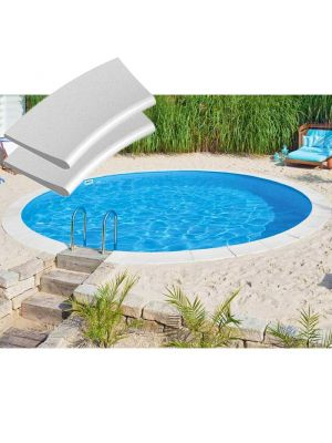 Kit bordi in pietra ricostruita per piscina interrabile Ø 350 cm