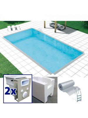 Kit costruzione piscina con doppio muro filtrante design