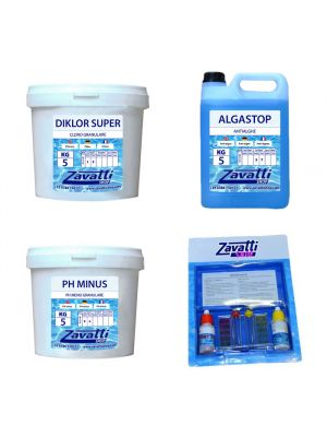 Chemical products  for swimming pool - Kit 15 Kg