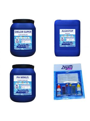Kit 150 Kg chemicals for swimming pool