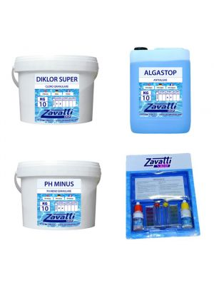 Kit 30 Kg chemicals for swimming pool