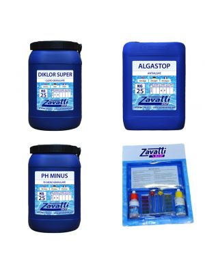 Kit 75 Kg chemicals for swimming pool
