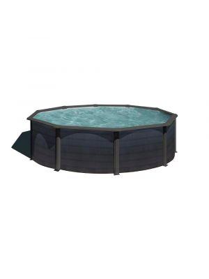 piscina fuori terra gre liner rivestimento grigio