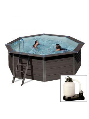 AVANTGARDE ø410 x h124 cm - filtro a sabbia - piscina fuoriterra in materiale composito