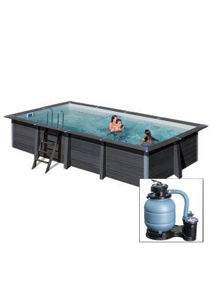 AVANTGARDE 326x186x h96 cm, piscina fuoriterra in composite
