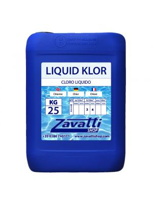 Liquid chlorine - Liquid Klor chemical pool product - 25 L