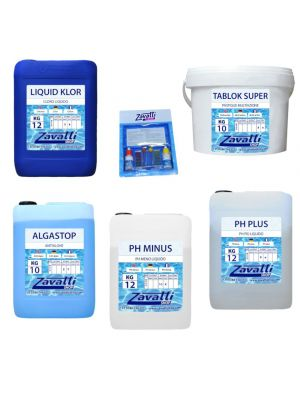 specific product kit for disinfection with cartridge systems
