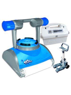 99996644-MAS Dolphin Maytronics Master M4 pool robot with Wonderbrush sponge