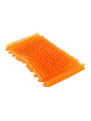 Maytronics 6101543 - Spazzola pvc combinata lunga arancione per robot Dolphin