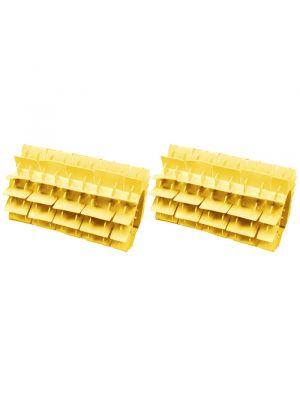 Maytronics 6101620 - Kit 2 pezzi spazzola in pvc corta gialla per robot Dolphin