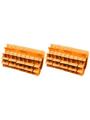 Maytronics 6101624 - Kit 2 pezzi spazzola in pvc corta arancione di ricambio per robot Dolphin