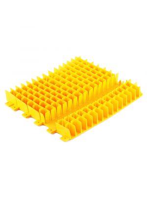 Maytronics 6101645 - Spazzola combinata corta in pvc gialla per robot Dolphin - ricambio originale