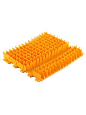 Maytronics 6101647 Spazzola combinata corta in pvc arancione per robot Dolphin - ricambio originale