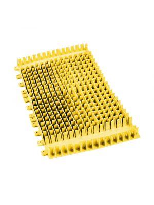 Maytronics 6101665 - Spazzola pvc combinata lunga gialla per robot Dolphin