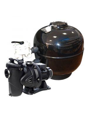 Impianto di filtrazione completo Fiberpool 22 MC/H con pompa DAB 1 cv