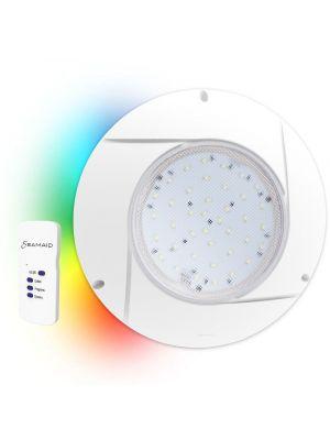 SeaMaid 502877 Multicolor RGB pool flat projector with remote control 90 Led 16W