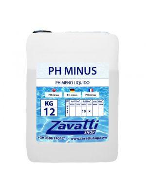 12 Lt PH minus - riduttore PH liquido per dosatori automatici piscine
