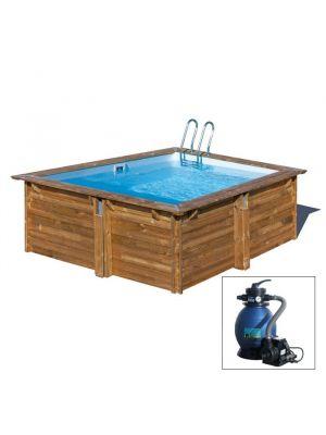 CARRA, piscina fuoriterra in legno Gré, 273 x 273 x h 116