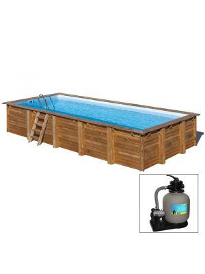 EVORA, piscina fuori terra in legno Gré, 570 x 373 x h 130