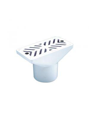 Presa di aspirazione in ABS ad incollaggio per piscina a sfioro in cemento Astralpool bianco viti inox