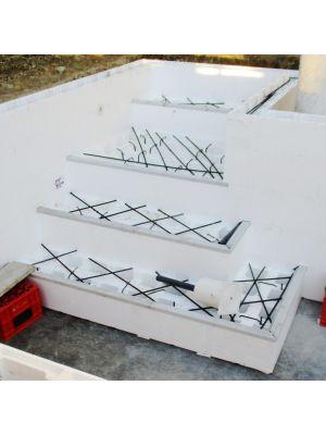 Profilo plastificato per gradini Easyblok | verga da 3 metri
