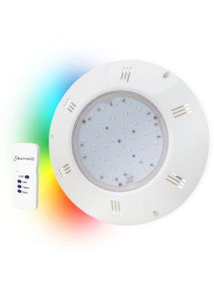 Seamaid 502877 Faro / Proiettore piatto PAR56 90 led RGB con telecomando 13,5W per piscina - lampada multicolor