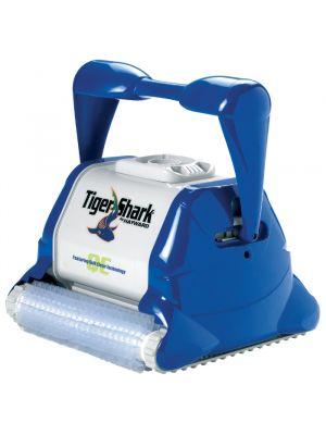 Robot pulitore per piscina Dolphin Tiger Shark QC con carrello