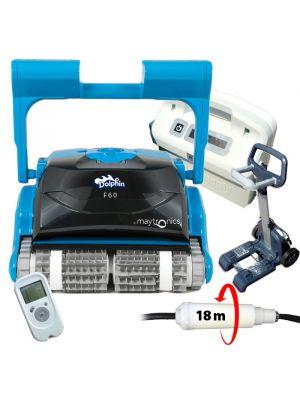 Robot pulitore per piscina Dolphin F60 con telecomando e timer